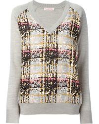 See By Chloé Check Print V-neck Sweatshirt - Lyst