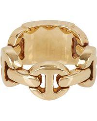 Hoorsenbuhs Gold Monogram Dame Ring - Lyst