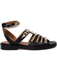 Givenchy Studded Flat Sandals - Lyst