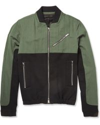 Tim Coppens Panelled Cotton-Blend Bomber Jacket green - Lyst