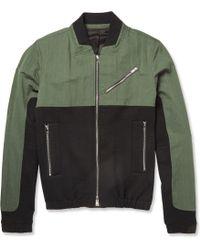 Tim Coppens Panelled Cotton-Blend Bomber Jacket - Lyst