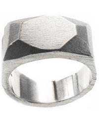 Fraser Hamilton Faceted Ring - Metallic