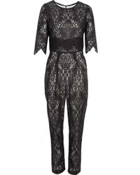 Sea Lace Jumpsuit Black - Lyst