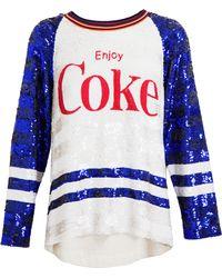 Ashish Enjoy Coke Motif Sequin Top - White