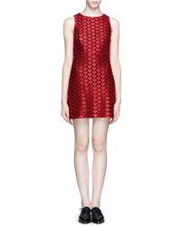 Alice + Olivia Everleigh Heart Embroidery Dress - Lyst