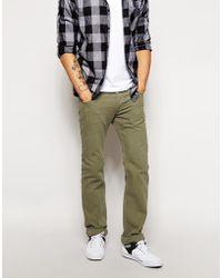 Diesel Jeans Safado Straight Fit 834J Brown Overdye - Lyst
