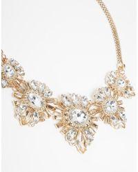 Lipsy - Deco Crystal Collar Necklace - Lyst