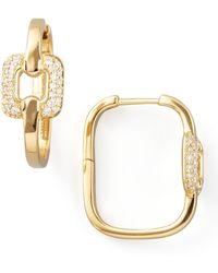 Mimi So - Piece 18K Gold Diamond Station Earrings - Lyst