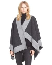 Burberry Brit - Colorblock Wool & Cashmere Cape - Lyst