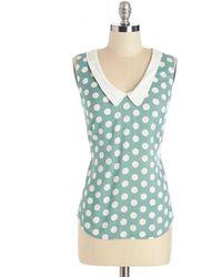 Sunny Girl Pty Lltd Summer Book Club Top In Mint green - Lyst