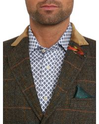 Ted Baker - Luboc Check Overcoat - Lyst