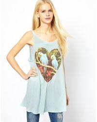 Wildfox Parrots Jungle Cassidy Dress - Blue