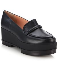 Robert Clergerie Yokole Leather Platform Loafers - Lyst