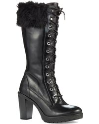 Michael by Michael Kors Black Kim Boots - Lyst