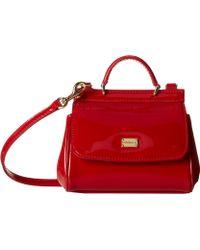 Dolce & Gabbana Patent Handbag - Lyst