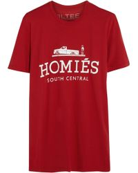 Brian Lichtenberg - Homiã©S Printed Cotton-Jersey T-Shirt - Lyst