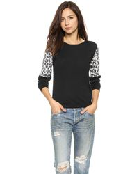 Top Secret Ashton Sweater - Black/Snow Leopard - Lyst