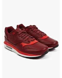 Nike Mens Red Air Max Lunar1 Deluxe Sneakers - Lyst