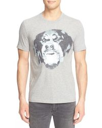 Givenchy 'rottweiler' Graphic T-shirt - Gray