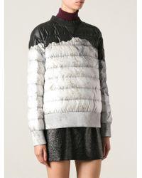 Moncler Gray Padded Sweatshirt - Lyst