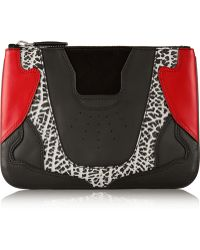 Alexander Wang Textured And Smooth-leather Pouch