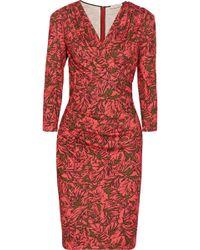 Matthew Williamson Wrap-effect Printed Jersey Dress - Lyst