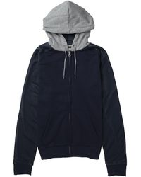 Brave Soul Zip Through Hoody With Mesh Sleeve Detail - Lyst