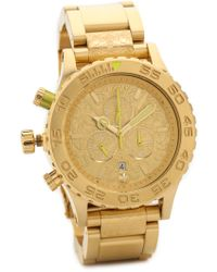 Nixon 42-20 Chrono Watch - Gold/Neon Yellow - Lyst