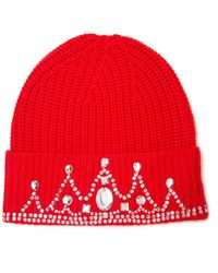 Markus Lupfer Embellished Ribbed Beanie - Lyst