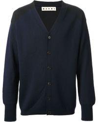Marni Contrast Sleeve Cardigan - Lyst
