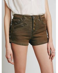 Free People Old West Denim Short - Lyst