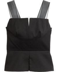 3.1 Phillip Lim Wool Top with Silk Chiffon Straps - Lyst