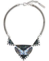 Vince Camuto - Silver-tone Multi-stone Necklace - Lyst