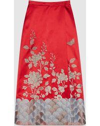 Gucci | Silk Duchesse Wrap Skirt | Lyst