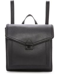Loeffler Randall - Lock Backpack Black - Lyst