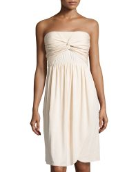 Rachel Pally Strapless Knotfront Jersey Dress - Lyst