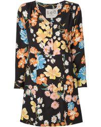Sea Daisy Print Dress multicolor - Lyst