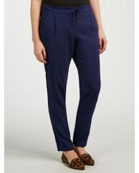 Marella Drawstring Trousers - Blue