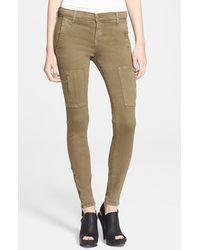 Current/Elliott Women'S 'The Flat Pocket Cargo' Skinny Ankle Jeans - Lyst