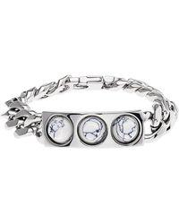 Balenciaga Marble Arena Stud Chain Bracelet - Lyst