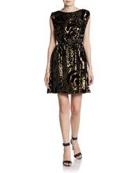 Alice + Olivia Hope Blouson Dress - Lyst