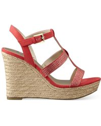 G by Guess Women'S Elegace Espadrille Platform Wedge Sandals - Lyst