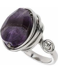 TOPSHOP - Amethyst Wrap Stone Ring - Lyst