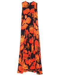 Jenni Kayne - Orange Printed Godet Gown - Lyst