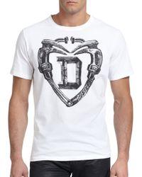 Diesel Logo & Tool-Print Cotton Tee white - Lyst
