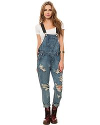 One Teaspoon The Cobain Awesome Overalls - Lyst