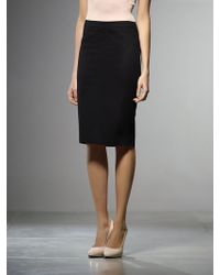Patrizia Pepe Pencil Skirt In Cotton Stretch Gabardine - Lyst