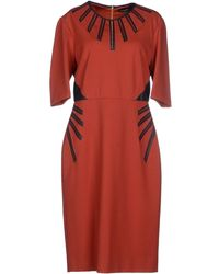 Catherine Deane Brown Knee-Length Dress - Lyst
