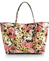 Dolce & Gabbana Floral Textured-Leather Tote - Lyst