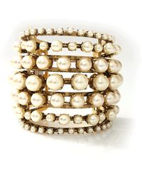 Erickson Beamon - Stratosphere Gold-Plated Faux Pearl Cuff - Lyst